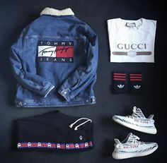 Style. Feat Hilfiger & Gucci. With #adidas Yeezy Boost 350 V2 Zebra tmblr.co/...