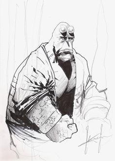 Hellboy - Sam Kieth Comic Art
