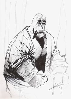 Hellboy - Sam Kieth Comic Art