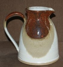 Beautiful large pottery water jug hand thrown and crafted by Susan Boland in County Kilkenny.