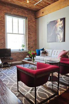 Can You Spy the DIY? Chicago Loft Living Room