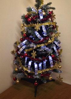Not the most festive way to decorate your Christmas tree!    If you want to save money this Christmas why not send those old printer ink and toner cartridges for recycling and visit Sprint-Ink for your new ones.