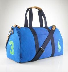 Polo Ralph Lauren Blue Canvas Duffle Bag Don T Get Me Wrong I