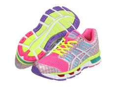 ASICS GEL-Cirrus33™ Neon Pink/White/Purple - Zappos.com Free Shipping BOTH Ways