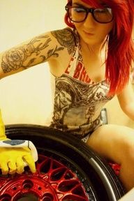 Hot Girls And Tattoos Pics) Girl Arm Tattoos, Sexy Tattoos, Tatoos, Red Copper Hair Color, Rocker Hair, Tattoo Photography, Alternative Girls, Inked Girls, Tattooed Girls