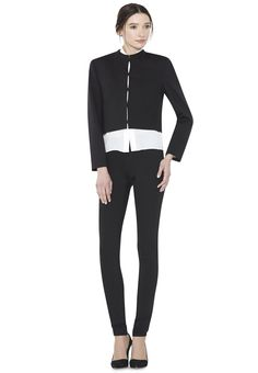 EXPOSED BACK ZIP LEGGING by Alice + Olivia