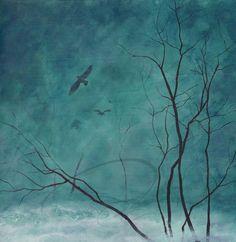 Awakening  Art Print dawn eagle wall painting home by oladesign, $45.00