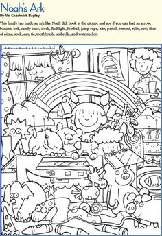 LDS Games - Find and Color - Noah's Ark