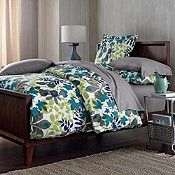 The Company Store canopy flannel duvet cover, blue
