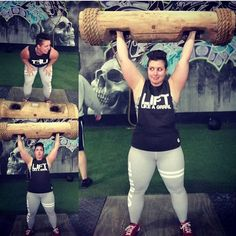Sometimes I don't have words .... Because log... Also because #badass !! Brianne  Wearing GRRRL #strongwoman #liftlikeagirl  #GRRRLarmy #DoYouEven #crossfit #wod #workout