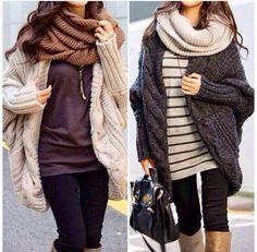 Love oversized sweaters!
