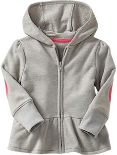 Terry Peplum-Hem Hoodies for Baby | Old Navy // my gray hoodie problem knows no limits