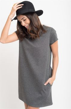 A sweet + simple dress made with comfort and versatility in mind. Made out high quality stretchy fabric, this ponte dress is the perfect match with your favorite wedges or sneakers.