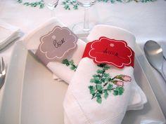 Imprimibles gratuitos: Servilleteros para la mesa de Nochevieja