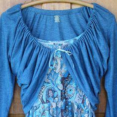 Ten Minute Spring T-Shirt Shrug | eHow Crafts | eHow Diy Clothing, Sewing Clothes, Clothing Patterns, Tee Shirt Crafts, T Shirt Reconstruction, Shirt Alterations, Altered T Shirts, Spring T Shirts, Old T Shirts
