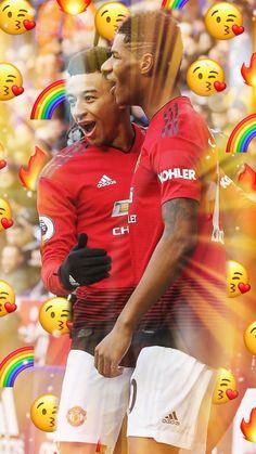 rashy and jesse Manchester United Team, Manchester United Wallpaper, Football Is Life, Football Soccer, Jesse Lingard, Marcus Rashford, Sporting, European Football, Man United