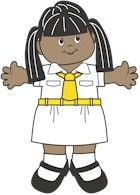 Bangladesh Girl Guide Uniforms for Paper Dolls from MakingFriends.com #WorldThinkingDay