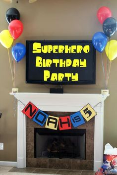 Superhero Birthday Party: great food, decor and game ideas that are actually doable for normal people!