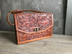 Your place to buy and sell all things handmade Aged To Perfection, Vintage Tools, Hat Shop, Hibiscus Flowers, Leather Tooling, Luxury Handbags, White Leather, Etsy Vintage, 1940s