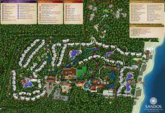Map Layout Sandos Caracol Eco Resort