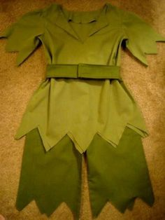 Get your COSTUME early. This listing is custom Peter Pan and set is pullover top, pants, belt and hat Colors may vary Listing is SIZE 4