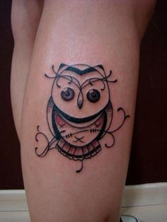 Delicate Owl tattoo.. kind of like it simple like this.