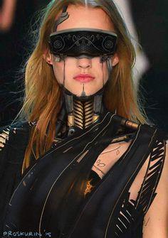 Android fashion, Nikolai Proskurin on ArtStation at https://www.artstation.com/artwork/android-fashion