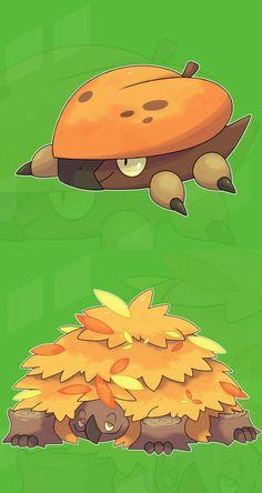 Fakemon: Littert (Grass/Ground) and Turtrunk (Grasd/Ground). Oc Pokemon, Pokemon Show, Pokemon Fake, Pokemon Eeveelutions, Pokemon Pokedex, Pokemon People, Pokemon Fan Art, Cute Pokemon, Pokemon Fusion