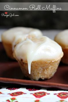 Cinnamon Roll Muffins with Cream Cheese Frosting | Recipe Girl
