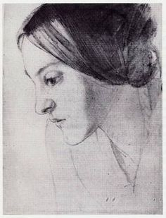 Christina Rossetti drawn by her brother Dante Gabriel Rossetti