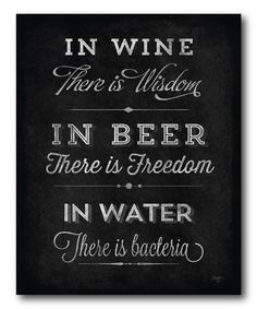 In Wine There Is Wisdom Wrapped Canvas   zulily