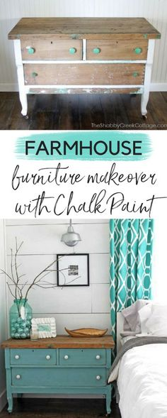 Amazing Chalk Paint furniture makeover - it's amazing how a little furniture painting can make such a big difference! #chalkpaint #furniturepainting #paintedfurniture #diyproject #painted