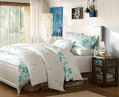 white cheap bedroom ideas for teenage girls