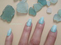 mint coffin nails green almond mermaid sea glass ballerina false fake nails beach wedding seafoam night sexy coffin fashion lasoffittadiste