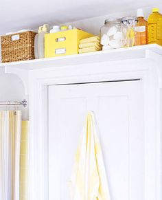 Space-saving ideas and smart storage solutions can make small bathroom design feel airy, bright, stylish and very comfortable Door Shelves, Door Storage, Closet Storage, Storage Room, Shelf Over Door, Storage Shelving, Shelving Units, Towel Storage, Laundry Storage