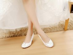 satin womens sandals strap sandals Comfortable silver wedding sandals Unique Design Low Satin & Lace Shoes for Wedding Bride Closed toe bridal shoes low heel - 2 inch