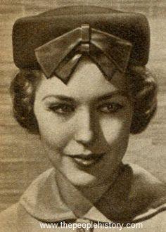 Bare the Bow Pillbox Hat 1957