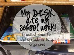 Bright Ideas - Student Desk Organization