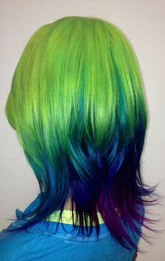 greens/blues/purples This would be a nice blend...without the green of course. And if it doesn't cost more to do.
