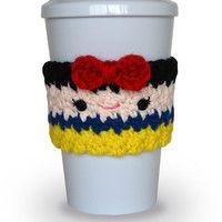 Crochet Snow White Coffee Cup Cozy