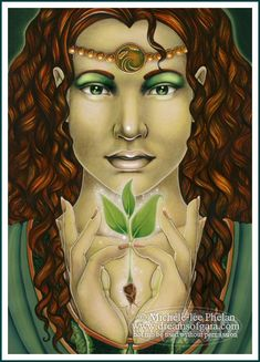 This is the Goddess Demeter who was also the Goddess Ceres. The Goddess of Mothers, Daughters and growing things/life on Earth.