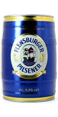 Пиво Flensburger Pilsener, Keg, 5 liter