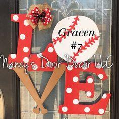 Love Sports Wood Door Hanger | Jane