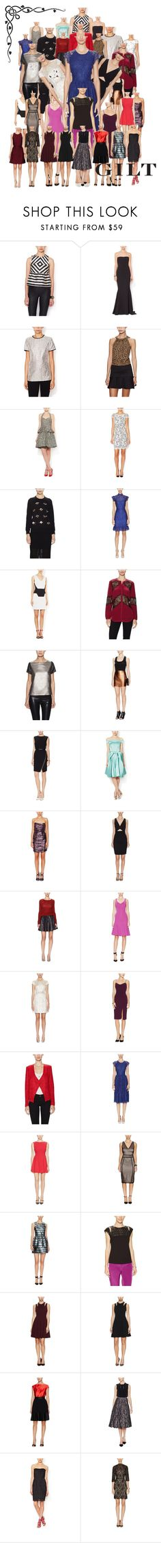 """""""#ComeTogether: Gilt Contest"""" by ainsthetic ❤ liked on Polyvore featuring Dolce Vita, Zac Posen, Shoshanna, ZAC Zac Posen, Allison Collection, Aijek, TIBI, The Letter, Trina Turk and Ava & Aiden"""