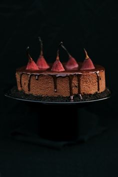 Pears chocolate cake