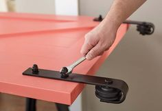 Attaching Hanging Hardware to Barn Door