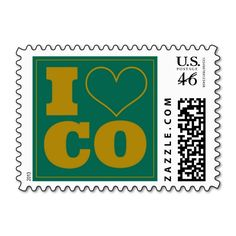 Colorado State Rams Inspired Postage Stamps - 1 sheet : 20 stamps | We Love CSU!