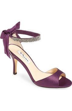 Nina 'Vinnie' Crystal Embellished Ankle Strap Sandal (Women) available at #Nordstrom