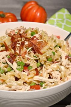 Bacon Chicken Ranch Pasta Salad is a simple and hearty recipe that will fast become a regular part of your meal planning. You can serve this pasta salad as a side dish or as a complete meal.