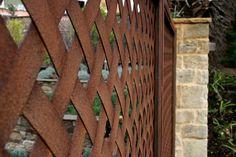 Corten steel diamond lattice